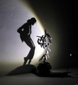Картинки игра теней. Силуэт тени Майкла Джексона
