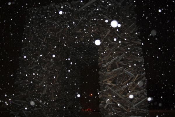Пермские ворота ночью