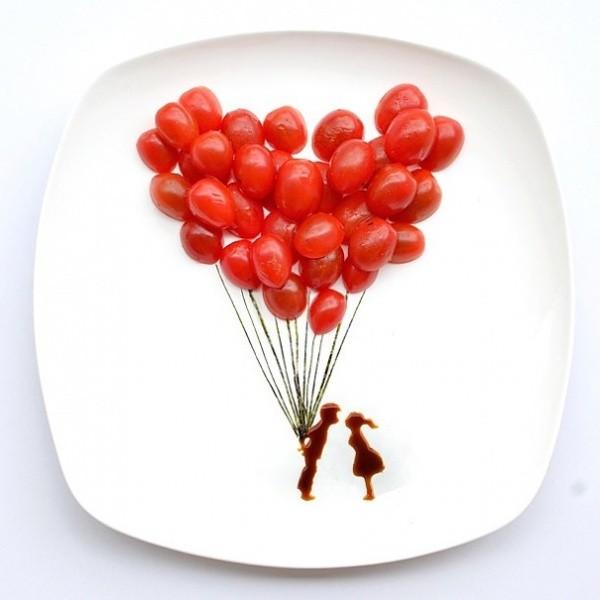 Воздушные шары-помидорки черри