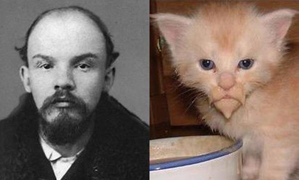 Ленин и котэ (в молодости)