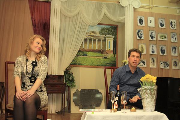 Алина Серёгина и Сергей Леонтьев, диалог, фото Светланы Фонфрович