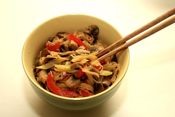 Лапша с овощами по-малайски