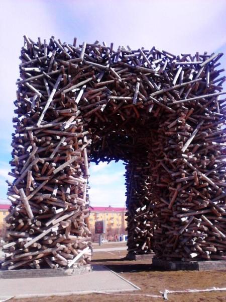 Монументальная пропаганда Пермь ворота