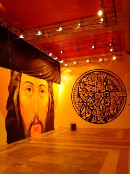 Транзитная зона Выставка стрит-арта в музее permm Спаситель и коллаж Минина