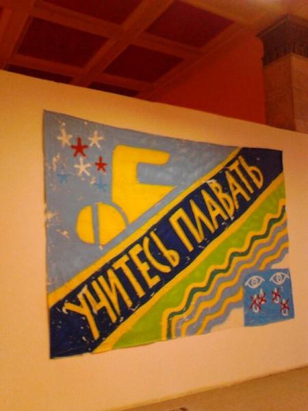 Транзитная зона Выставка стрит-арта в музее permm Учитесь плавать