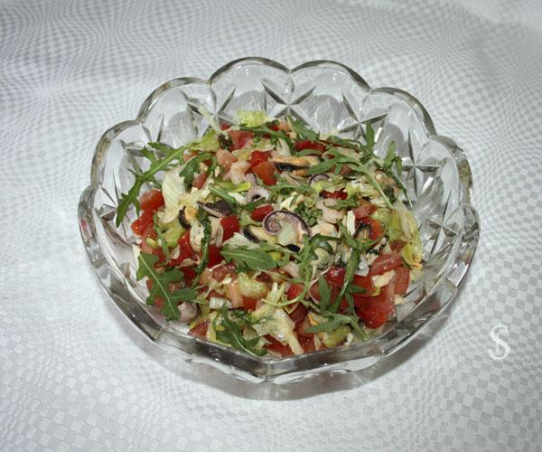 Зелёный салат с морепродуктами, рецепт и фото - Светлана Фонфрович