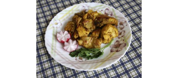 Курица по-индийски с имбирём и шафраном, фото - Светлана Фонфрович