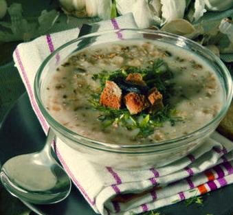 Чесночный суп чеснечка