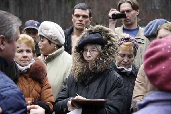 Рубка леса в Малаховке 2014, митинг
