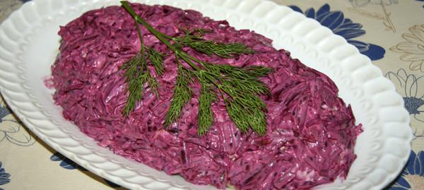 Селедка с овощами рецепт