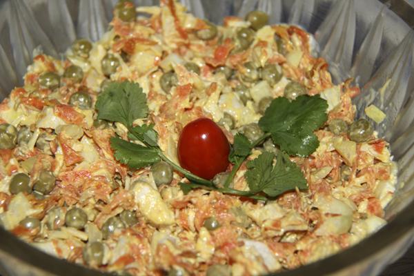 Салат из курицы с горошком NoorySan