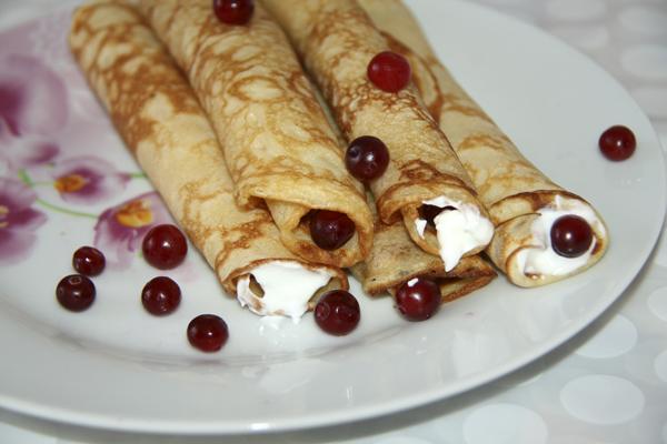 Блинчики десертные с клюквой от @NoorySan