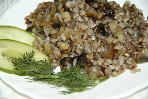 Постное блюдо - гречка с грибами от NoorySan