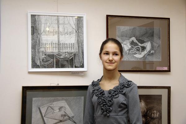 """Светлана Качанова и ее картина """"Вид из моего окна"""""""