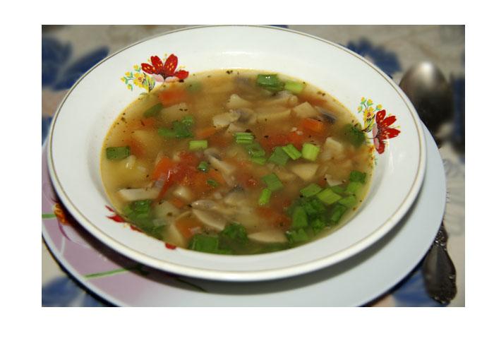 Итальянский суп с грибами.