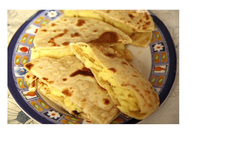 Лепешки с картошкой по-татарски