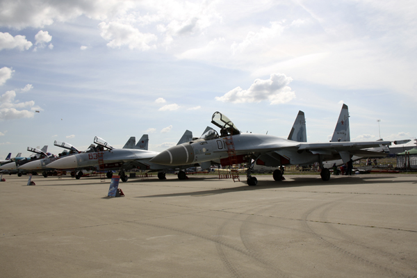 MAKS 2015, самолеты су на МАКС 2015