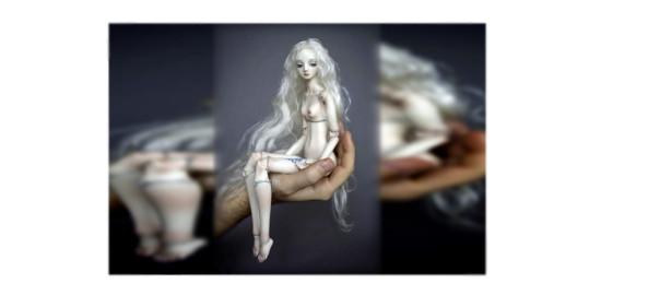 фарфоровая кукла, кукла на ладони, девочка-кукла, фарфоровая куколка на ладони