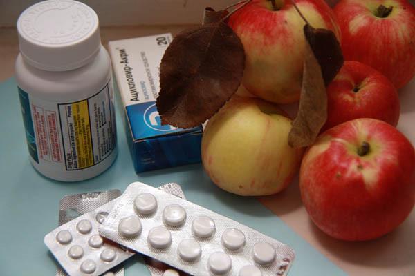 лекарство или яблоки,народные средства от гриппа, как повысить иммунитет, таблетки и яблоки