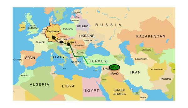 """операция """"скарабей"""" фото, боевики ИГИЛ под видом мигрантов, боевики в Европе под видом беженцев, схема движения боевиков ИГИЛ в Европу, сухопутный транзит боевиков ИГИЛ в Европу, план захвата Европы ИГИЛ, маршрут движения боевиков ИГИЛ в Европу, схема переброски боевиков в Европу"""