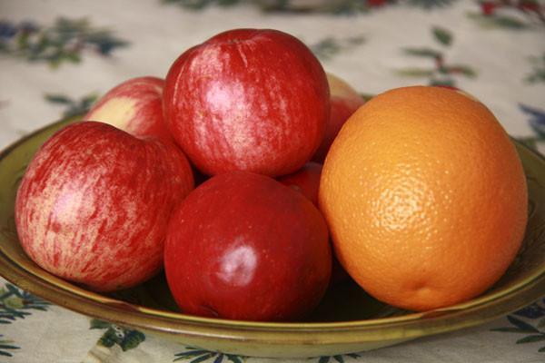 яблоки, яблоки и апельсины, апельсины, фрукты, фрукты в вазе, ваза с фруктами
