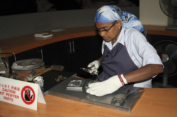 оловянная фабрика, ройял силангор, royal selangor, отливки из металла