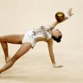 девушка с мячом, гимнастка