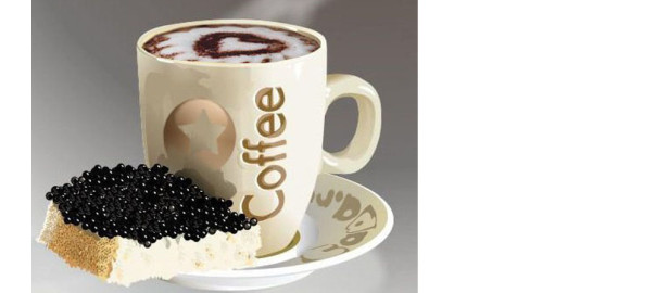 кофе черное, стих про кофе черное, икра и кофе