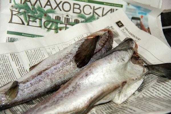 рыбку заворачивали, рыба на газете