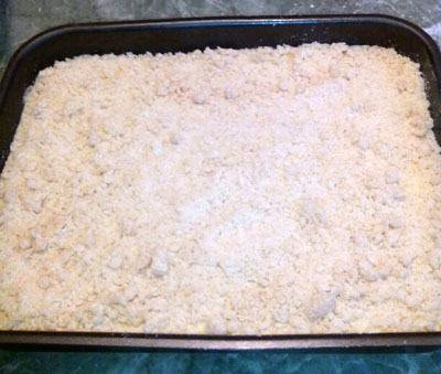 песочное тесто, творожник из песочного теста