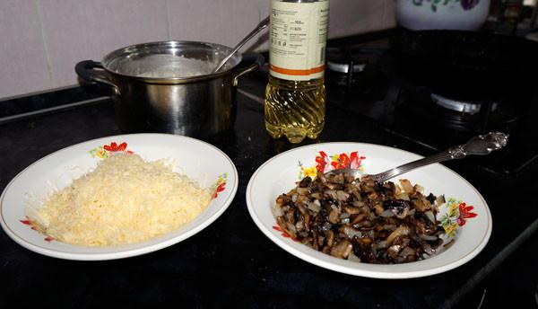 рецепт блинов с грибами