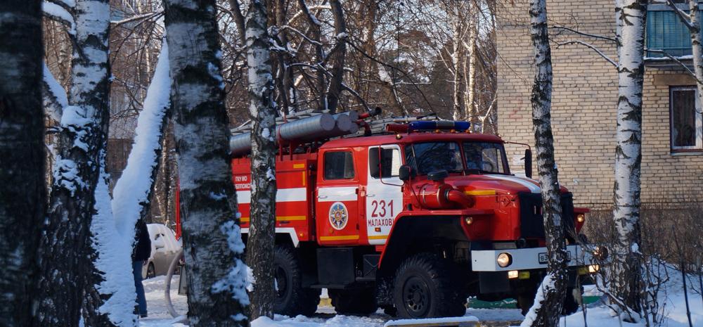Пожар в Малаховке