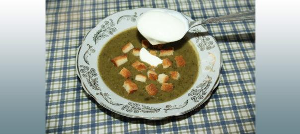 суп пюре из щавеля